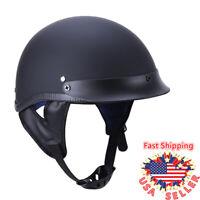 DOT Retro Motorcycle Half Helmet Safety Chopper Cruiser Scooter Bobber ABS Shell