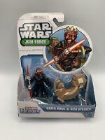 Star Wars Jedi Force Playskool Heroes Darth Maul & Sith Speeder Brand New Mint