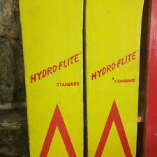hydroflite standard wooden wood water skis yellow red Hedlund Nokomis Illinois
