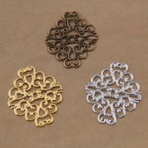90Pcs Tone Filigree Flower Wraps Connector Jewelry Findings