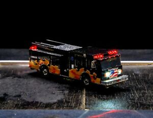 N Scale Fire Engine Pumper With Flashing LEDs