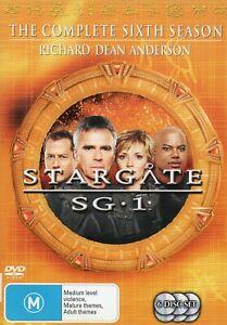 STARGATE SG-1. S6. All 22 S6 eps on 6 x R4 Volumes (DVDs)