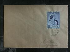 1949 Falkland Islands Cover to south Georgia Silver Wedding # 100