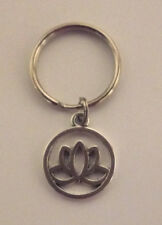 Lotus Flower Filigree Key Ring - Great Gift