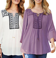 Ladies Lilac or White Crinkle Gypsy Tunic Top in UK Sizes 14-18