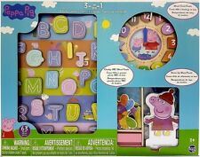 PEPPA PIG 3-IN-1 ACTIVITY CENTER WOOD PUZZLES, 63 PIECES *DISTRESSED PKG*