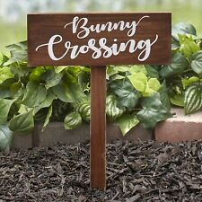 Bunny Crossing Garden Stake Sign - Decorative Easter Lawn Ornament