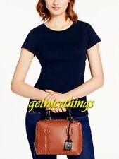 Kate Spade Road Trip Brown Leather Luggage / Steamer Trunk Handbag Purse New NWT