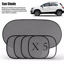 5Pcs Black Car Side Rear Window Screen Sun Shade Mesh Cover Windshield Sunshade