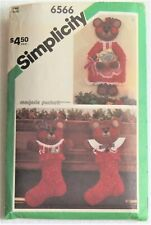 Simplicity Holiday Crafts Pattern 6566 Card Holder & Stockings-Vintage - Uncut