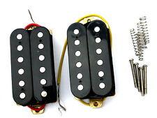 Pair black open humbucker pickups neck and bridge position guitar 2 new