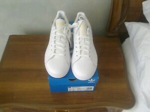 adidas stan smith originals white yellow trim uk9 bnib £75rrp