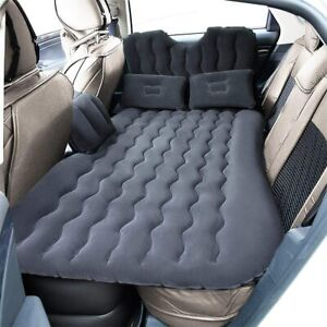 Inflatable Travel Car Camping Mattress Bed Back Seat Sleep Rest 2 Pillow Pump