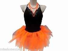 NEON 5 LAYER TUTU SKIRT 80S FANCY DRESS LEGWARMERS & GLOVES BEADS HEADBAND PLUS