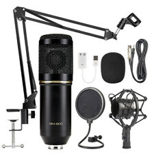BM800 Condenser Microphone Kit Pro Audio Studio Recording & Brocasting  Mic Kit