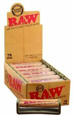 RAW 79mm Cigarette Roller Rolling Machine Hemp Plastic 1-1/4 Box of 12