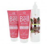 Hyaluronique Huile de Noix Coco Cacao Shampooing + Hairbell Set Stimule la