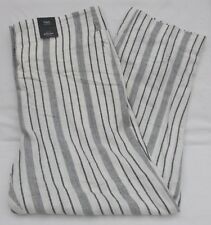 Ladies Marks and Spencer White Navy Striped Linen Rich Wide Trousers Size 20