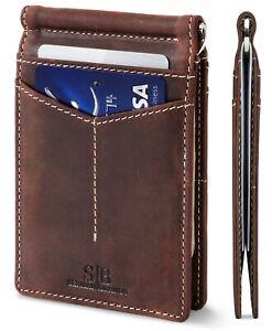 SERMAN BRANDS Money Clip Wallet - Mens Wallets Slim Front Pocket RFID Blocking