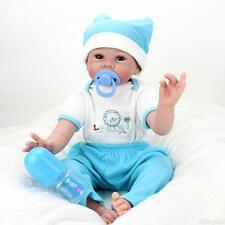 Handmade Reborn Baby Boy Realistic Silicone Vinyl Real Life Newborn Dolls 22 in.