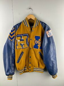 Neff Men's Vintage Music USA Choir Bomber Jacket Size M Brown Tennessee