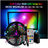 USB 5V LED Strip Dream Color WS2812B RGB Runing Color+ USB controller+ POWER