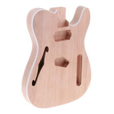 Unfinished F Hole Guitar Body DIY Guitar Parts for Telecaster Guitar Lovers