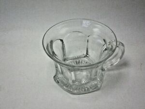 a Vintage Clear C Handle Flared Rim Cup Punch