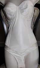 Smoothie Firm Control Minimizer Low Back Strapless Body Briefer 1570 Ivory 34D