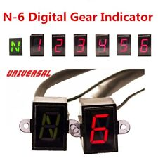 Universal LED Digital Gear Indicator Motorcycle Display Shift 6 Lever Sensor N-6