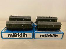 Marklin 4 voitures 4004 comme neuve