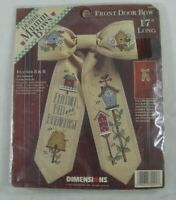 "Debbie Mumm Feather B & B 17"" Door Bow Cross Stitch Kit 72291 Dimensions SEALED"