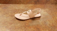 New! Tory Burch 'Everly' T-Strap Flat Sandal Pink Leather Womens 5.5 M MSRP $228