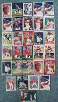 Reggie Sanders Baseball Card Mixed Lot approx 30 cards