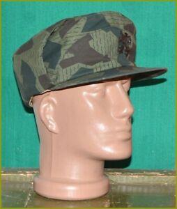 Bulgarian Army Splinter Camouflage Winter Hat + Cockade Badge
