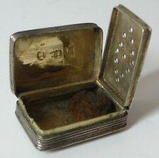 More details for george iv silver vinaigrette birmingham 1829 26mm wide original & nice condition