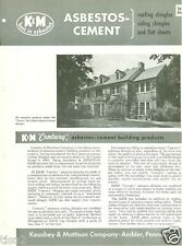 1953 KEASBEY & MATTISON Co ASBESTOS-Cement Building Products Vintage Catalog