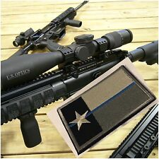 THIN BLUE LINE, TEXAS FLAG Tactical  SWAT Police Embroider Hook/Lp Morale Patch