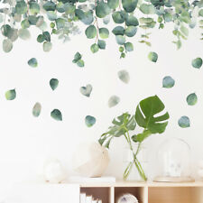 Green Leaves Plant Wall Stickers Vinyl Decal Nursery Decor Art Mural Gift S9
