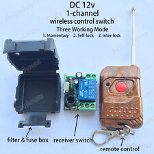DC 12v Wireless RF Remote Control Switch Momentary On/off Transmitter Receiver
