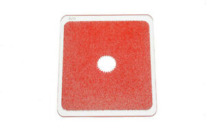 Kood P Size Rectangle Filter 84mm Red Centre Spot Clear fits Cokin P