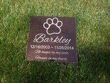 Memorial Headstone 6x6 Grave Marker Dog Cat Pet Stone Granite Stone Whippets