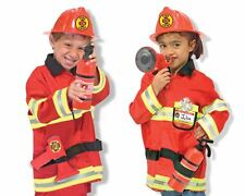 Childrens Melissa and Doug Fire Chief Role Play Dress Up Costume Age 3-6