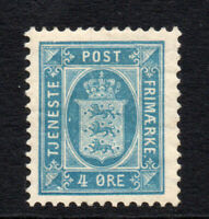 Denmark 4 Ore Stamp c1899-02 Mounted Mint (2782)