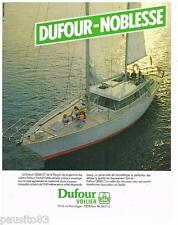 PUBLICITE ADVERTISING 105  1979  les Voiliers 12000CT   DUFOUR