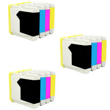 12 Tinta Compatible Brother NON-OEM  DCP-135C LC1000 LC-1000 LC-970 LC-970