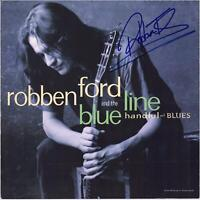 Robben Ford Autographed The Blue Line Album Cover BAS Beckett Authentication