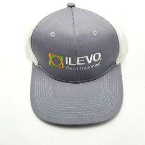 Ilevo Seed Treatment Farm Agriculture Hat Cap Gray Snapback Mesh Back Gr4