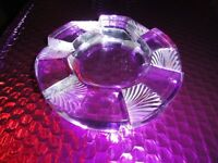 Lalique French Crystal Art Deco Ashtray