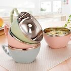 Stainless Steel Noodle Bowl With Handle Food Container Bowl Rice Soup Bowls